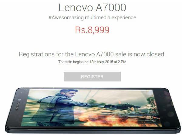 लिनोवो ए7000 की फ्लिपकार्ट सेल आज होगी शुरु