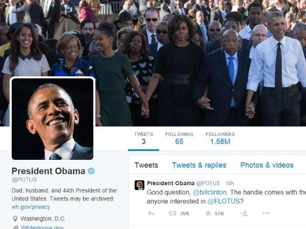 ट्विटर पर आ गए प्रेजिडेंट बराक ओबामा