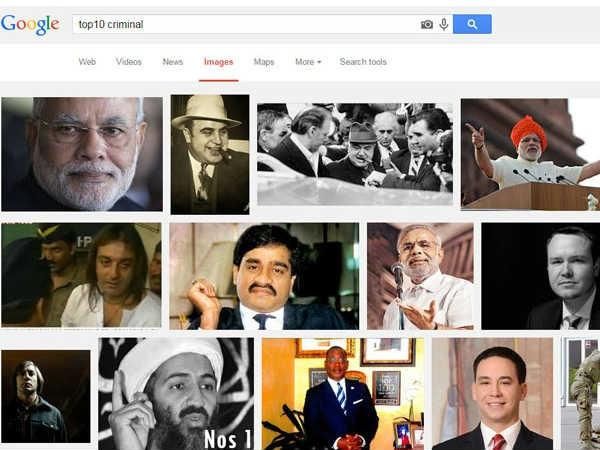 टॉप 10 क्रिमिनल्स की लिस्ट में नरेंद्र मोदी का नाम, गूगल ने मांगी माफी