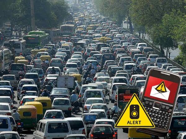 आपके मोबाइल पर आएगा दिल्ली ट्रैफिक SMS अलर्ट