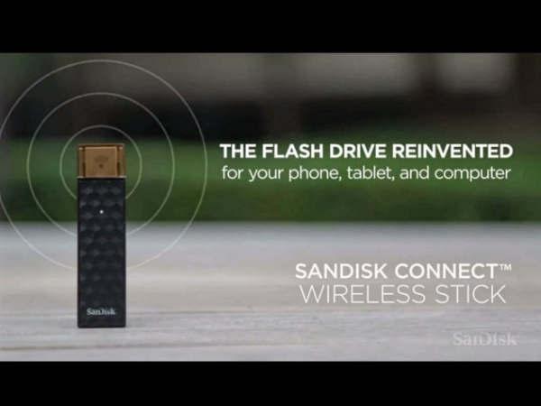 सैनडिस्क ने लॉन्च की वायरलेस फ्लैश ड्राइव