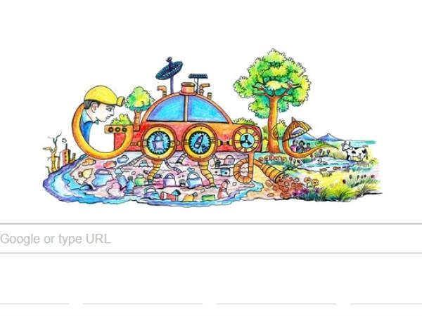 गूगल ने खूबसूरत डूडल के साथ दी बाल दिवस की शुभकामनाएं..!
