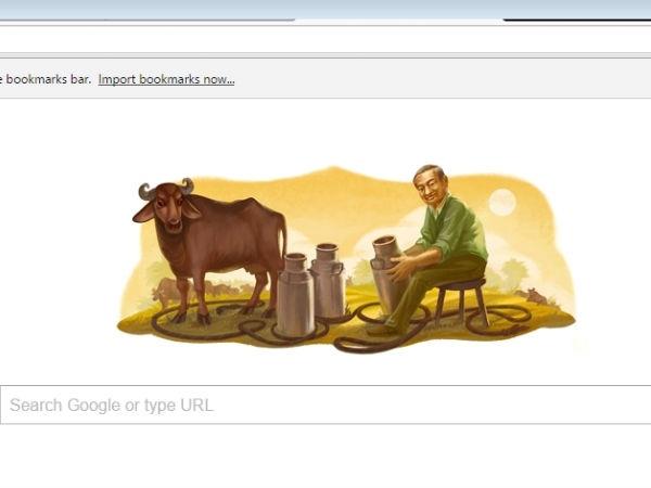 'मिल्कमैन ऑफ़ इंडिया' के 94वें जन्मदिन पर गूगल का डूडल..!!