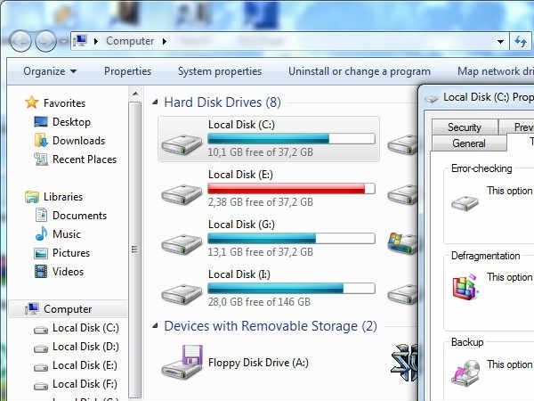 Hard disk Space