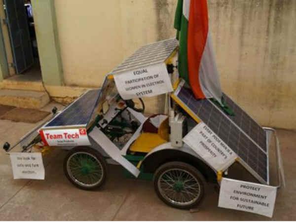 63 साल के सैयद ने अपनी बनाई सोलर कार से किया बैंगलोर टू दिल्ली टूर..!!