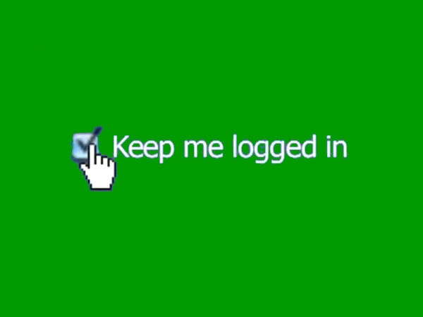 'Keep me logged in