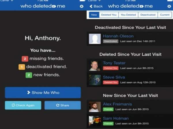 ये एप बताएगी किसने किया आपको फेसबुक पर अनफ्रेंड!