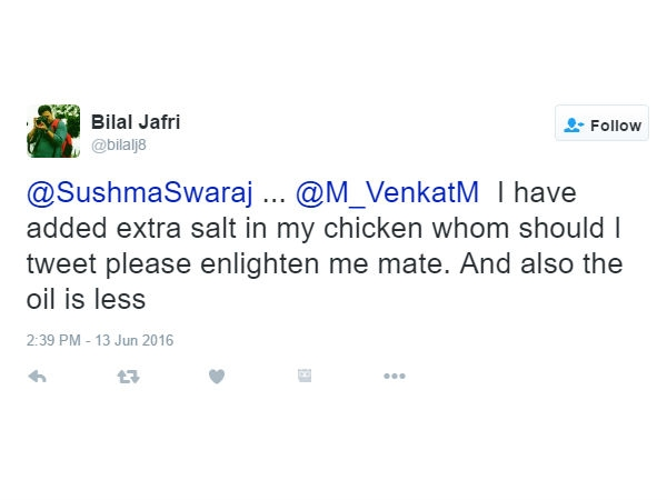 क्या आपने देखा सुषमा स्वराज का मजेदार ट्वीट!