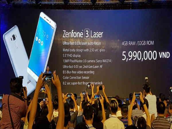आसुस के मिड रेंज स्मार्टफोन जेनफोन 3 लेज़र और जेनफोन 3 मैक्स लॉन्च