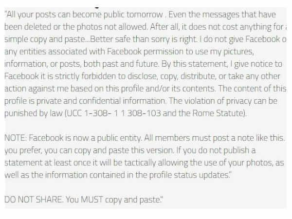 फेसबुक पर वायरल हो रहे इस स्टेटस की ये है सच्चाई!