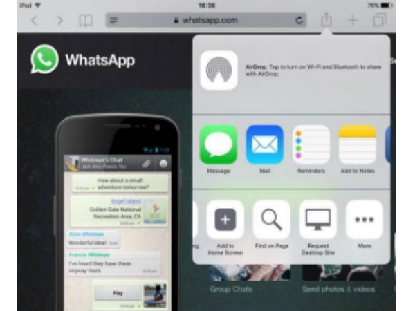 आईपैड में कैसे चलाएं वाट्सएप वेब