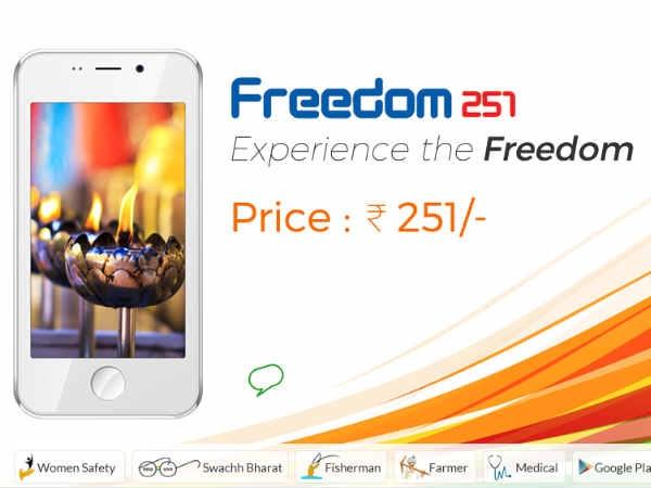 फ्रीडम 251 स्मार्टफोन ऑर्डर करने वालों के लिए बड़ी खुशखबरी !