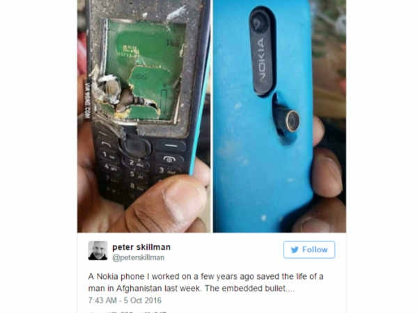 नोकिया फोन ने गोली खाकर बचाई शख्स की जान!