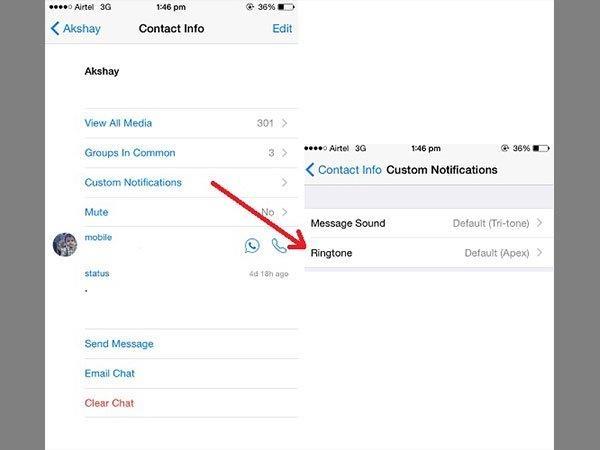 एंड्रायड और आईओएस डिवाइस पर कैसे सेट करें व्हाट्सएप रिंगटोन