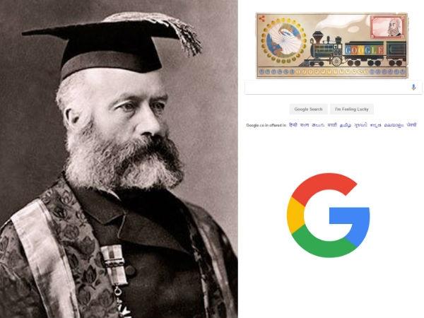 गूगल ने डूडल के जरिये सर सैंडफोर्ड फ्लेमिंग को किया याद