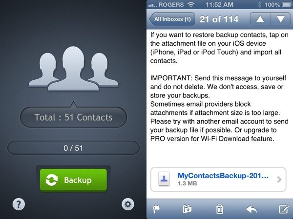 My Contacts Backup (iOS & Android)