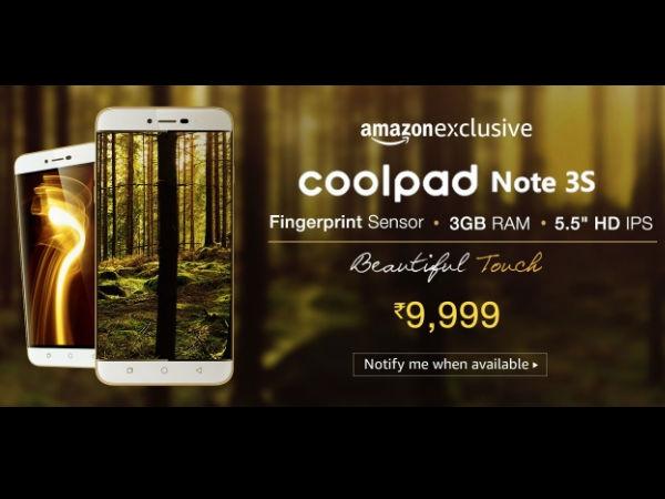 कूलपैड नोट 3 एस : 9,999 रुपये में फिंगरप्रिंट सेंसर, 13 MP कैमरा और...