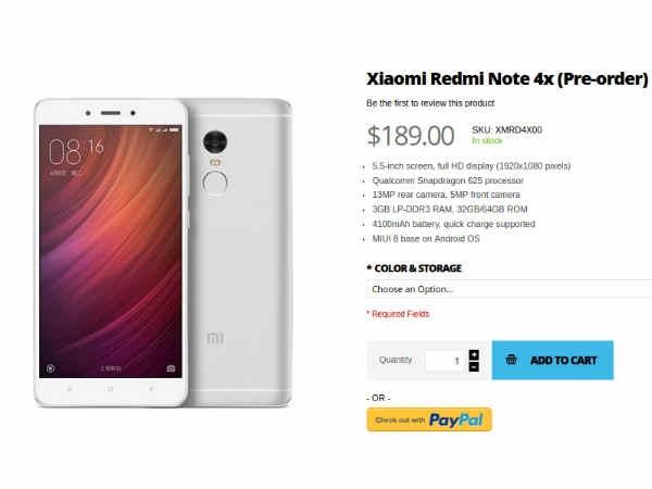 प्री-ऑर्डर के लिए आया श्याओमी रेड्मी नोट 4 एक्स, कीमत 12,633 रुपए
