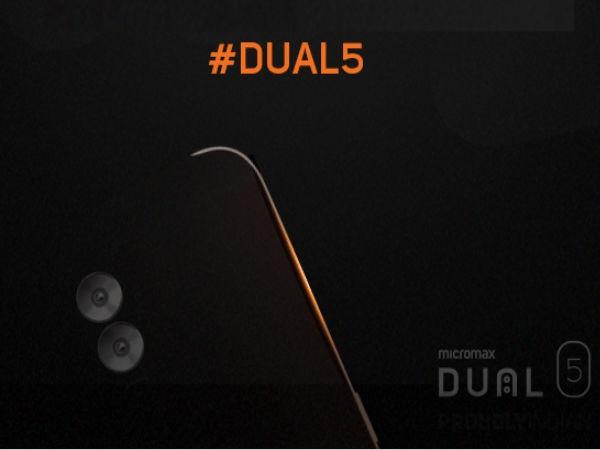 13 एमपी डुअल कैमरा के साथ माइक्रोमैक्स डुअल 5 स्मार्टफोन लॉन्च