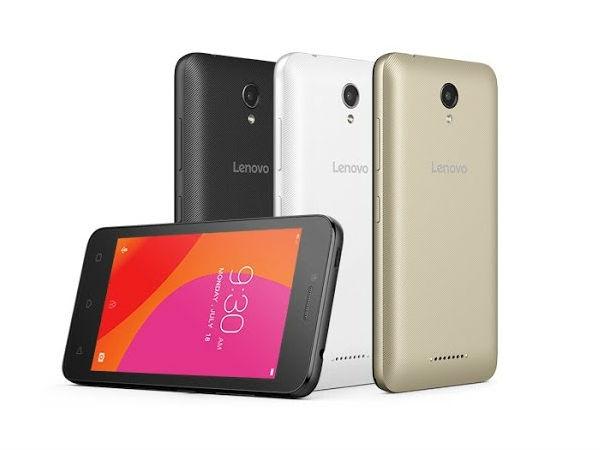 लेनोवो वाईब बी 4जी सपोर्ट के साथ लॉन्च, कीमत 5,799 रुपए