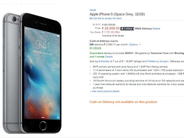 वनप्लस 3T से भी कम कीमत में मिल रहा है आईफोन 6