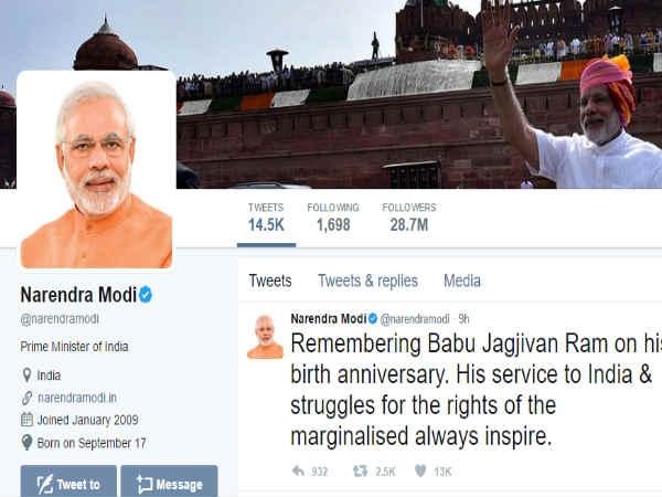 ये हैं वो 10 लोग जिन्हें प्रधानमंत्री नरेंद्र मोदी तक फॉलो करते हैं