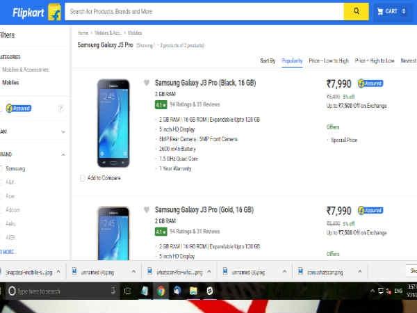 सिर्फ 290 रुपए में खरीदिए सैमसंग गैलेक्सी J3 pro