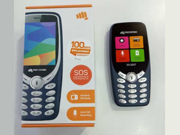 माइक्रोमैक्स ने उतारा नोकिया 3310 का क्लोन, डिट्टो हैं फीचर्स और कीमत आधी