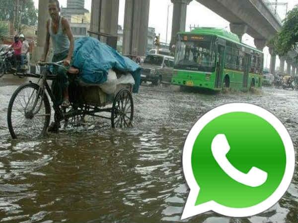 वॉटर-लॉगिंग से निबटने दिल्ली सरकार ने जारी किया वॉट्सअप नंबर और वेबसाइट