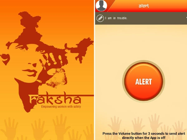 Raksha - women safety alert-