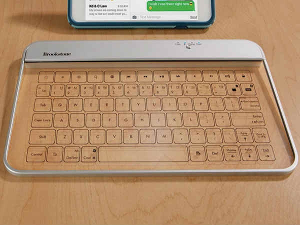 Wireless glass keyboard-