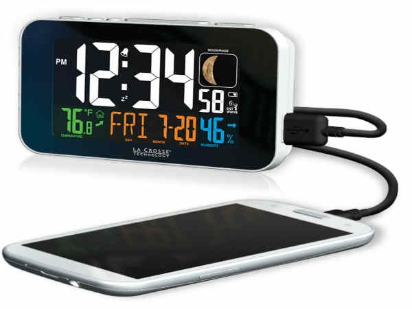 Phone-Charging Atomic Alarm Clock-