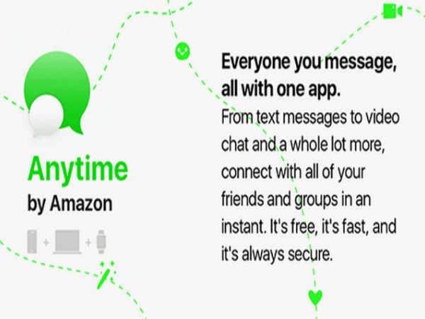 अमेज़न मैसेजिंग ऐप 'Anytime', जानिए कैसे देगी व्हाट्सऐप को मात