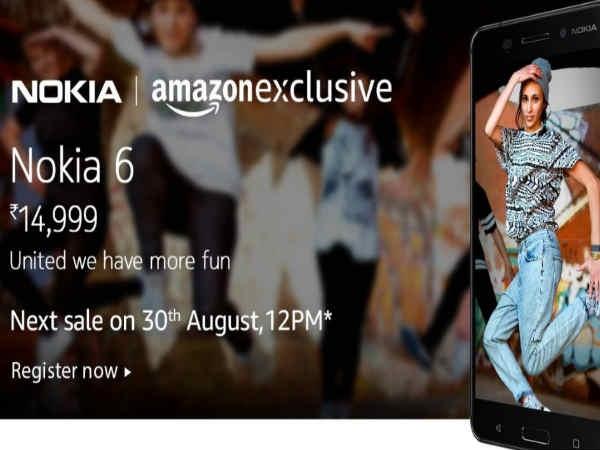 सेकंड्स में आउट ऑफ़ स्टॉक हुआ Nokia 6, अगली सेल 30 अगस्त को