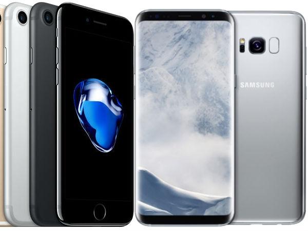 दुनिया के सबसे ज्यादा बिकने वाले स्मार्टफ़ोन: सैमसंग गैलेक्सी एस 8, आईफोन 7, रेडमी 4 ए