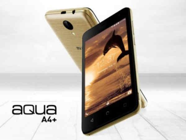 4G VoLTE सपोर्ट के साथ Intex Aqua A4+ स्मार्टफोन लॉन्च