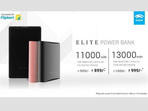 स्वाइप ने लॉन्च किए नए पॉवर बैंक, कीमत 1000 रुपए से भी कम