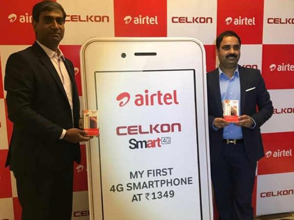 एयरटेल का नया Celkon smart 4G फोन, कीमत 1349 रुपए