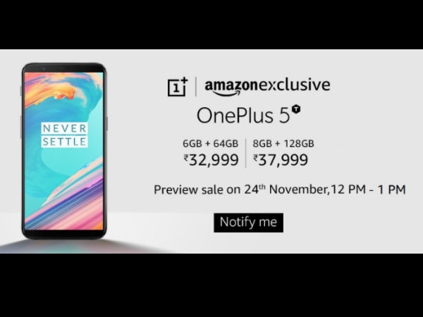 OnePlus 5T खरीदने के लिए आपके पास है एक घंटे का समय