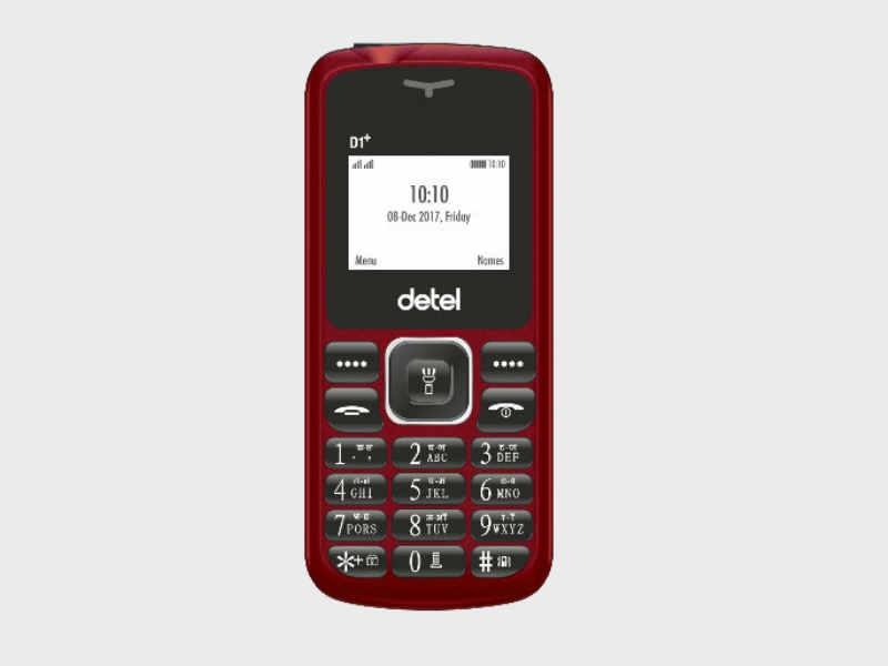650mAh बैटरी के साथ 399 रुपए में Detel D1+ लॉन्च