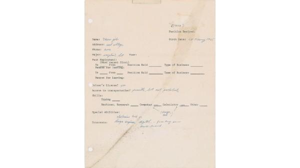 क्या आपने देखा स्टीव जॉब्स का पहला Resume ?