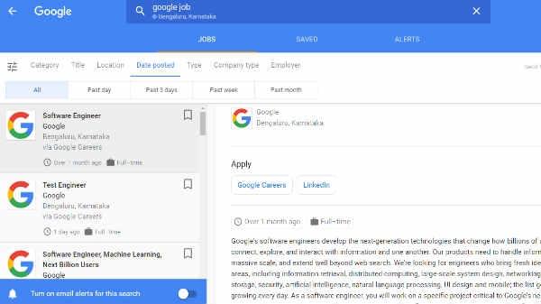 Google लाया जॉब सर्च फीचर, नौकरी ढूंढ़ने में करेगा मदद