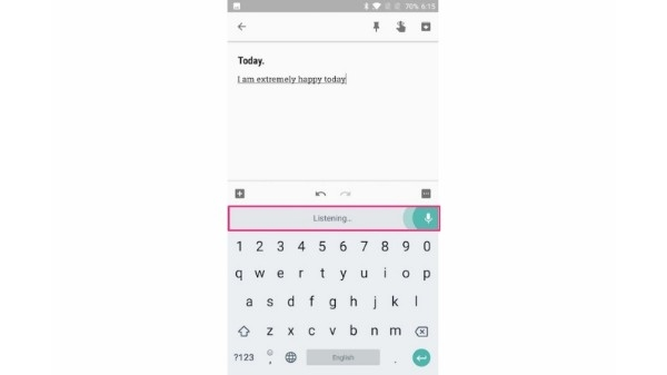 4. Using Google Voice Typing