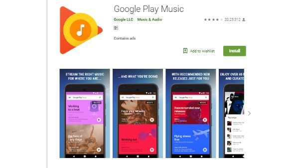 4. Google Play Music