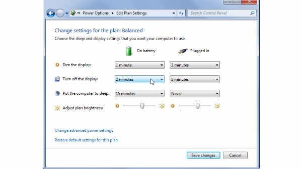 1. battery Setting को Adjust करें