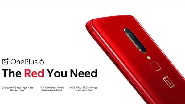 OnePlus 6 रेड एडिशन को आज खऱीदने का मौका, 128GB स्टोरेज है इसमें