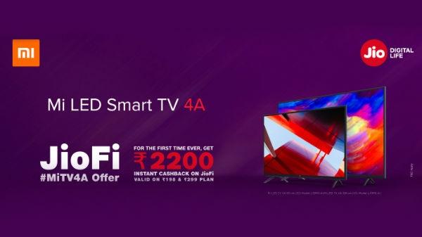 जियोफाई MiTV4A ऑफर, पाएं 2200 रु का कैशबैक