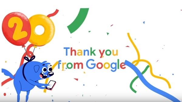 Happy Birthday Google: डूडल ने खास अंदाज में दिखाई 20 सालों की झलक