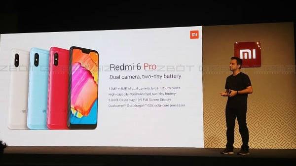 Xiaomi Redmi 6 Pro की बिक्री शुरू, जानें इस स्मार्टफोन के फीचर्स और ऑफर्स