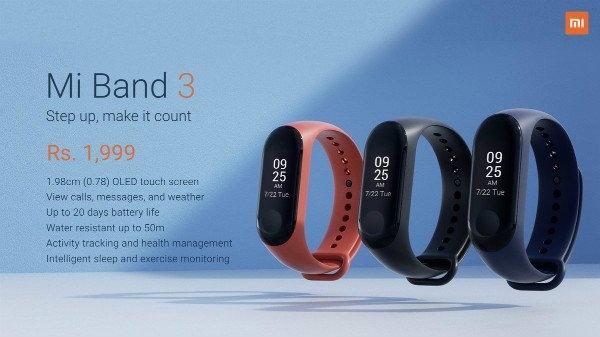Xiaomi का फिटनेस ट्रैकर Mi Band 3 लॉन्च, जानें कीमत और खास फीचर्स